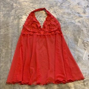 Victoria Secret red lace halter cami/nightie